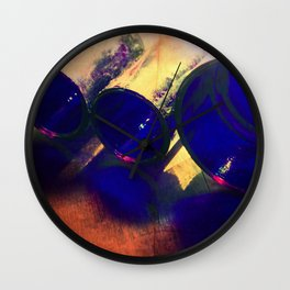 Cobalt Reflections Wall Clock