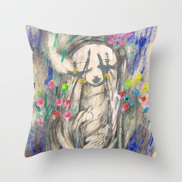 Mary I (Cocoon) Throw Pillow