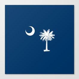 flag south carolina,america,us,Savannah,Palmetto,Carolinian,cotton,Confederate,Goose Creek,Rock Hill Canvas Print