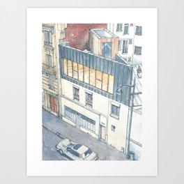 Saganaki House Art Print