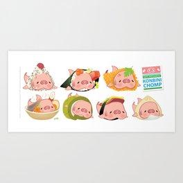 Konbini Chomp Art Print