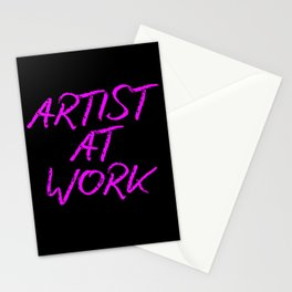 Artist at Work (pink) Stationery Cards