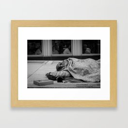 They Just Watched.. Framed Art Print