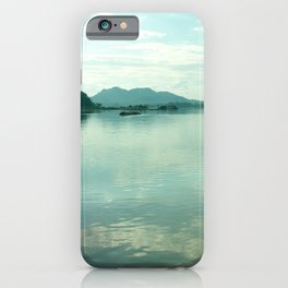 Mekong River Mountains Landscape Sky Reflection Water iPhone Case