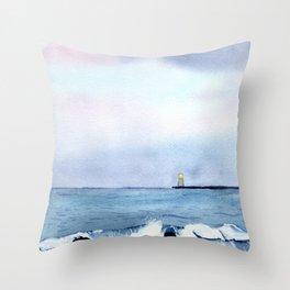 Virginia Beach at Dusk Throw Pillow