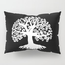 black and white abstract tree of life II Pillow Sham