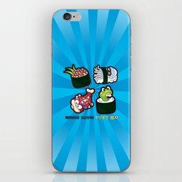 Mario Sushi Cyan iPhone Skin