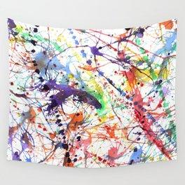 Watercolor Splatters Wall Tapestry