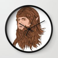 teen wolf Wall Clocks featuring Teen Wolf by Joseph Botcherby