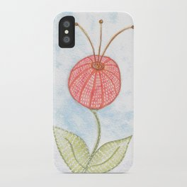 Puff Flower Whimsical Watercolor iPhone Case