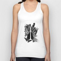 gondor Tank Tops featuring White Tree Of Gondor by Icarusdie