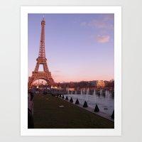 La Tour Eiffel at Dusk Art Print