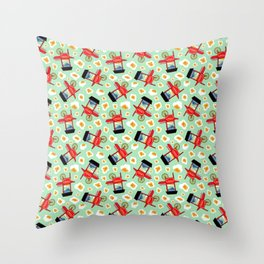 Popcorn Bonanza Throw Pillow