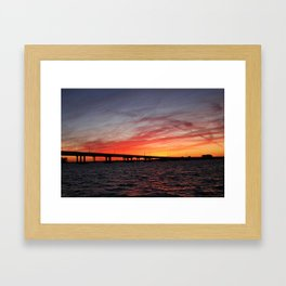 An Evening on the Caloosahatchee I Framed Art Print