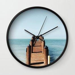 Florida pier Wall Clock