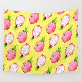 Tropical Dragon Fruit Party Wall Tapestry