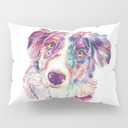Multicolored Australian Shepherd red merle herding dog Pillow Sham