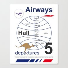 Airport and Airways Vintage Decoration Print Posters Canvas Print