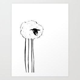 Creepy Sheep Art Print