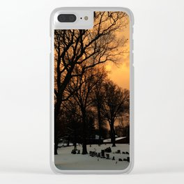 Tangerine Graveyard Clear iPhone Case