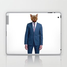 cat goes to work Laptop & iPad Skin