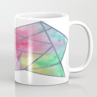 tie dye Mugs featuring Tie dye by Bridget Davidson