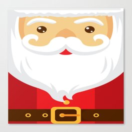 Happy Santa Canvas Print