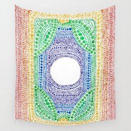Rainbow Dot Mandala Wall Tapestry