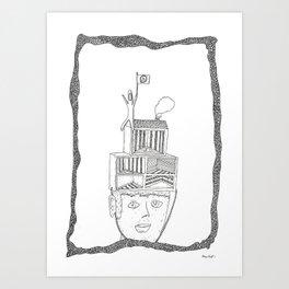 hat of rooms Art Print