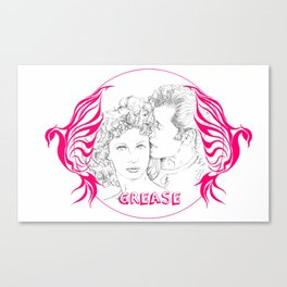 Grease (Sketch & bird design) Canvas Print