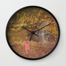 Fall Wonderland Wall Clock