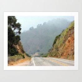 Big Sur Highway Art Print