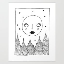 Full Moon Follies Art Print