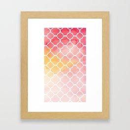 Oriental pattern Framed Art Print
