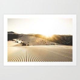 Vail Ski Resort: Back Bowls at Sunrise Art Print