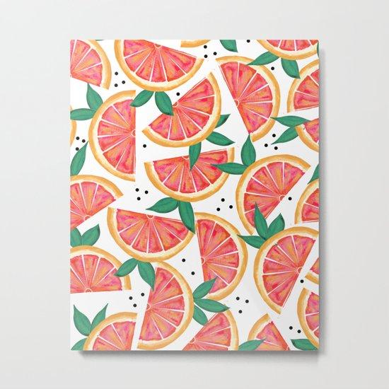 Citrus Surprise #society6 #decor #buyart Metal Print