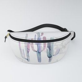 Cactus Trio Marble Blue by Nature Magick Fanny Pack