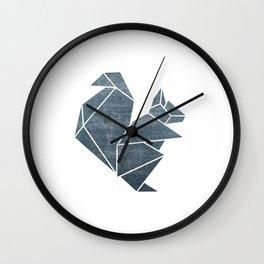 Origami squirrel Wall Clock