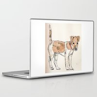 jack russell Laptop & iPad Skins featuring Jack Russell Terrier by Bryan James