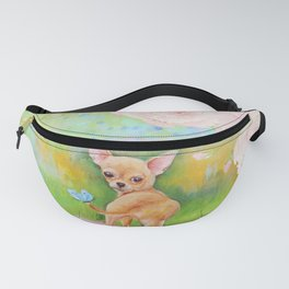 Chihuahua in the rose garden Fanny Pack