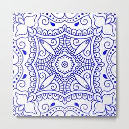 Mindful Mandala Pattern Tile MAPATI 151 Metal Print