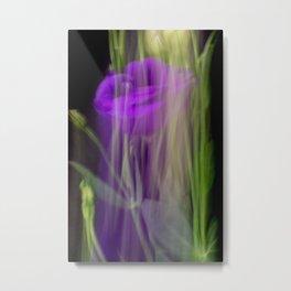 Fleur Blur-Abstract Purple Flower Photo Metal Print