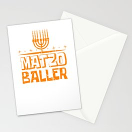 Matzo Baller Jew And Christian Gift Stationery Cards