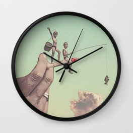 The dangers of happiness Wall Clock