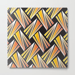 African Tribal Pattern No. 62 Metal Print
