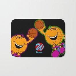 Basketball Cartoon Character Bouncing Ball Bath Mat