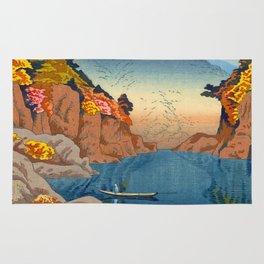 Asano Takeji Views of Wakayama Vintage Japanese Woodblock Print Landscape Asian Art Rug