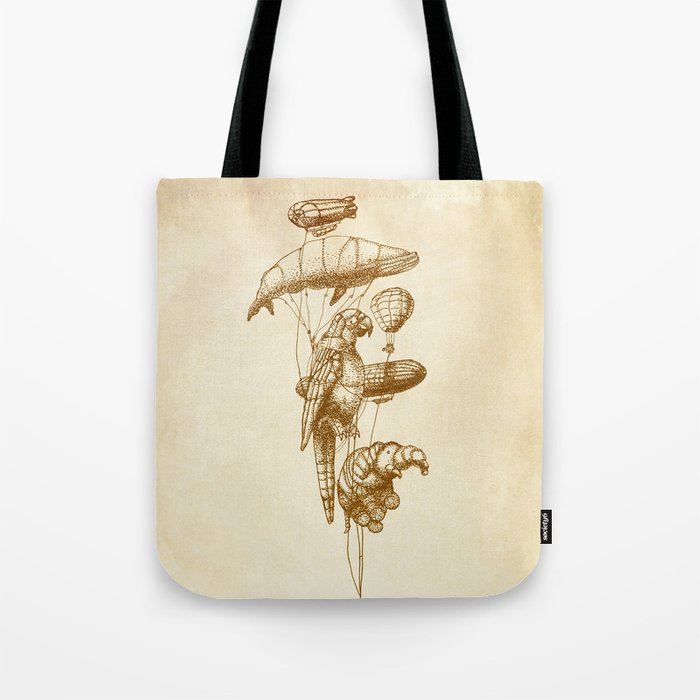 The Helium Menagerie (sepia) Tote Bag