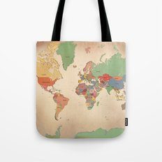 Mercator Map Modern Tote Bag