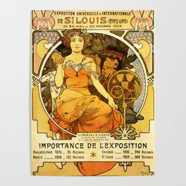 "Alphonse Mucha ""World's Fair, St. Louis, Missouri"", 1904 Poster"
